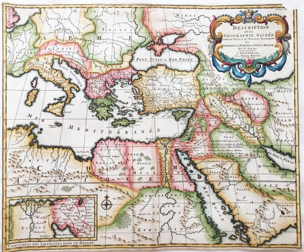 Description dela Geographie Sacree Tiree du Vieux & du Nouveau Testament, qui Contient les Parties de Tout le Monde
