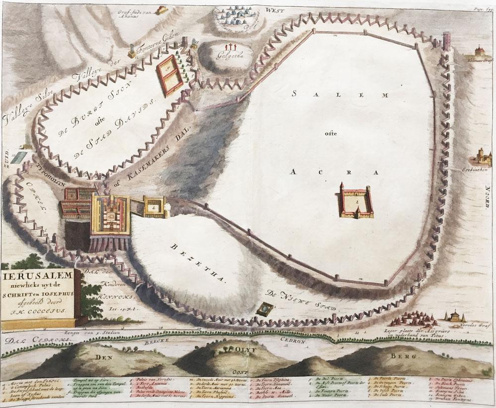 Ierusalem Niewlicks uyt de Schriften Iosephus Afgebeeld door J.H. Coccejus