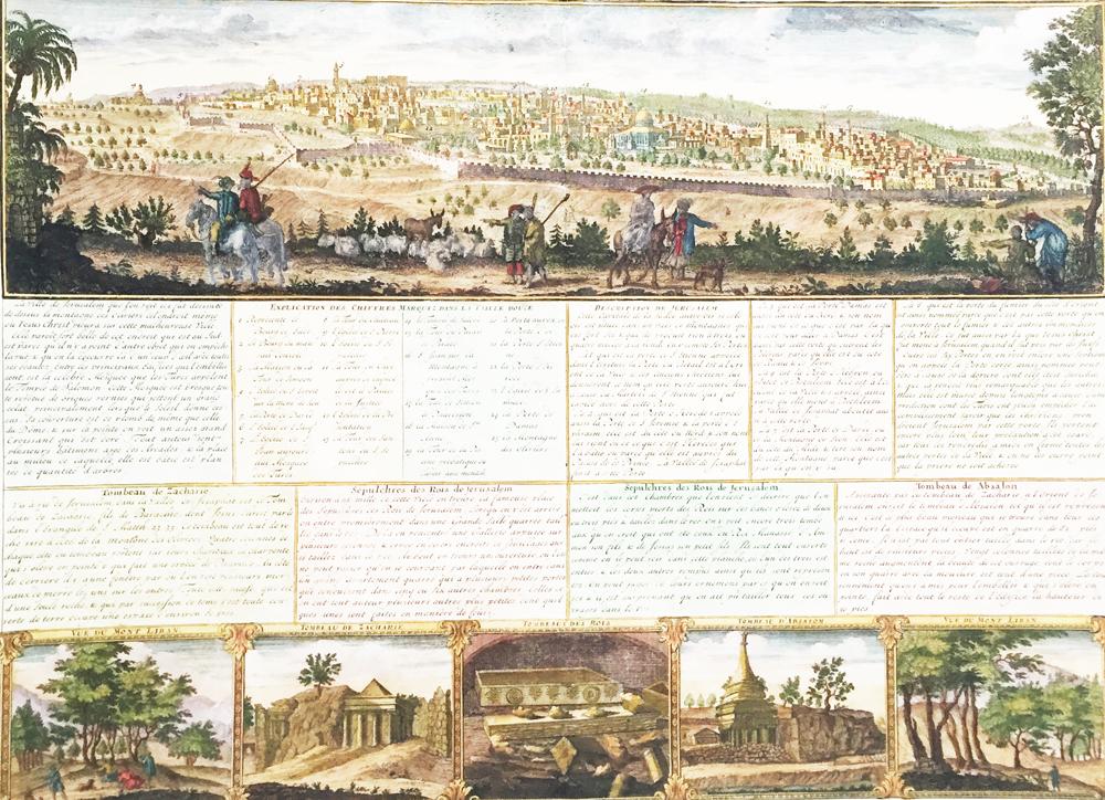 Vue & Description de la Ville de Jerusalem telle qu'elle est Aujourd'hui avec les Tombeaux