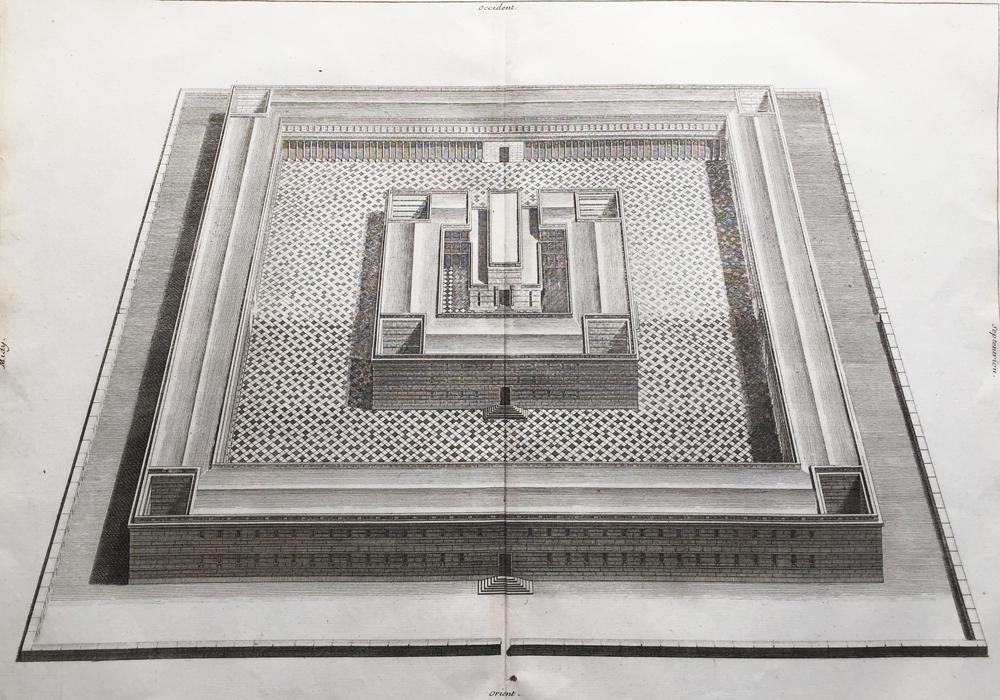 Veuë, et Evélation du Temple de Salomon (bird's-eye view of Solomon's Temple)