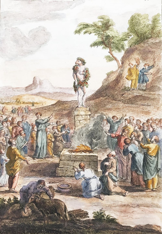 Adoration of the Golden Calf by Mount Sinai – Idolatrie du Veau d'or des Israelites dans le Desert. Exod. XXXII.1.8