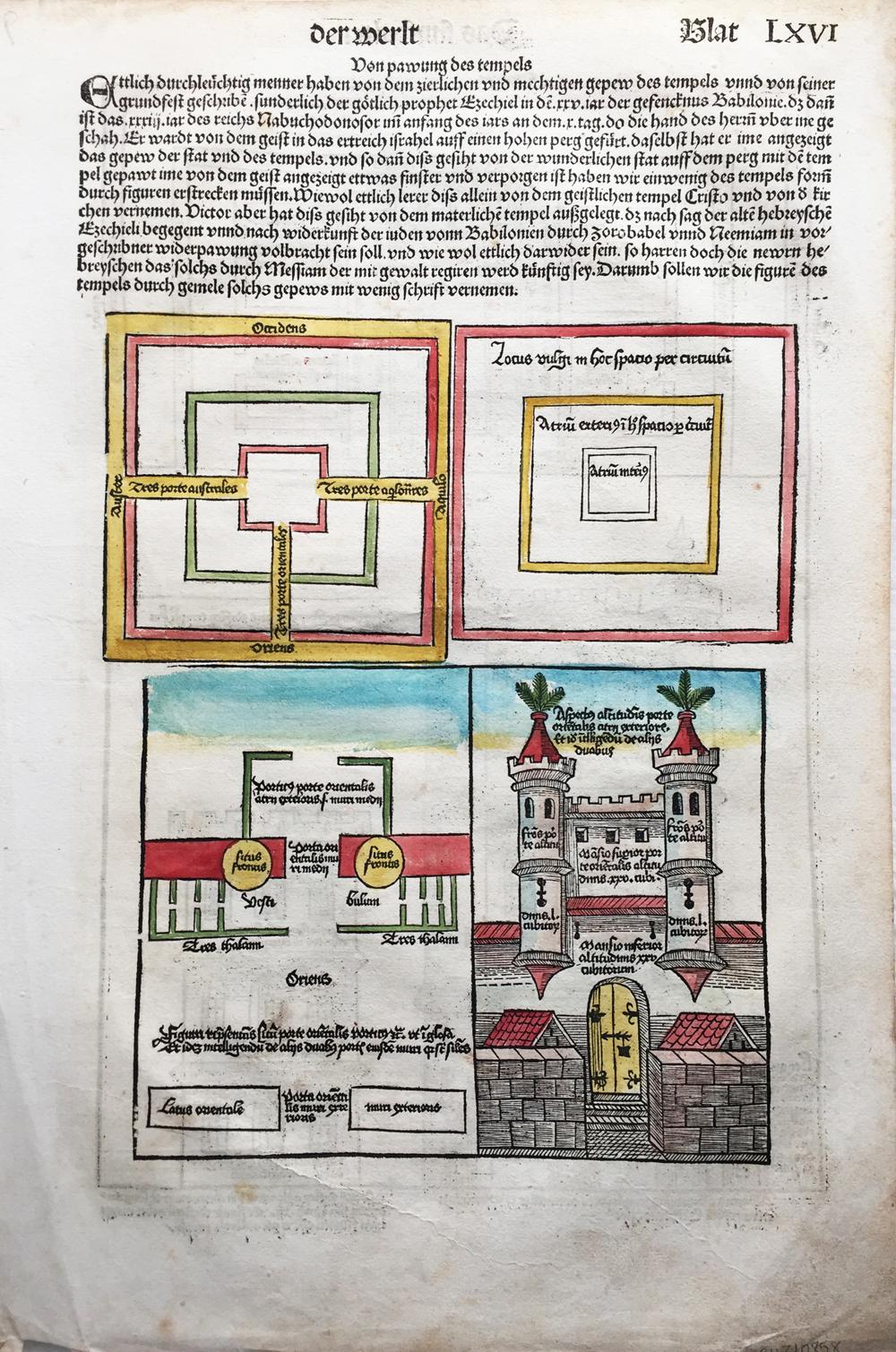"Nuremberg Chronicle ""Blat LXVI"""
