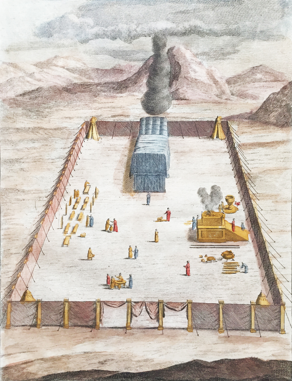 The Tabernacle with its Courts Erected in the Wilderness