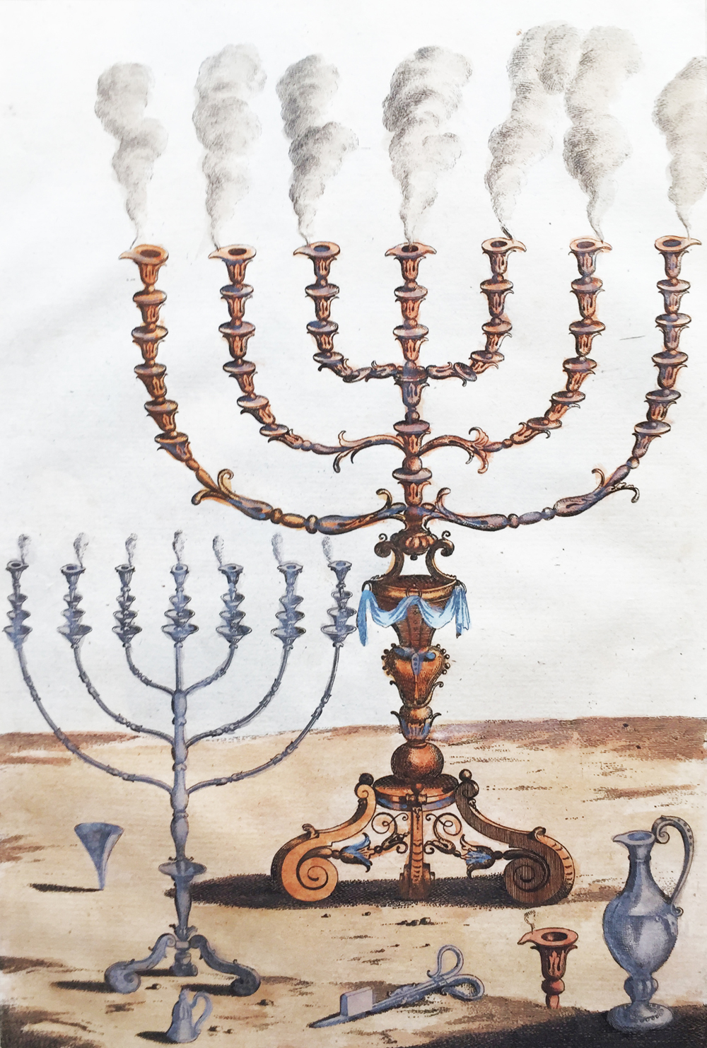 Golden Candlestick with Seven Branches