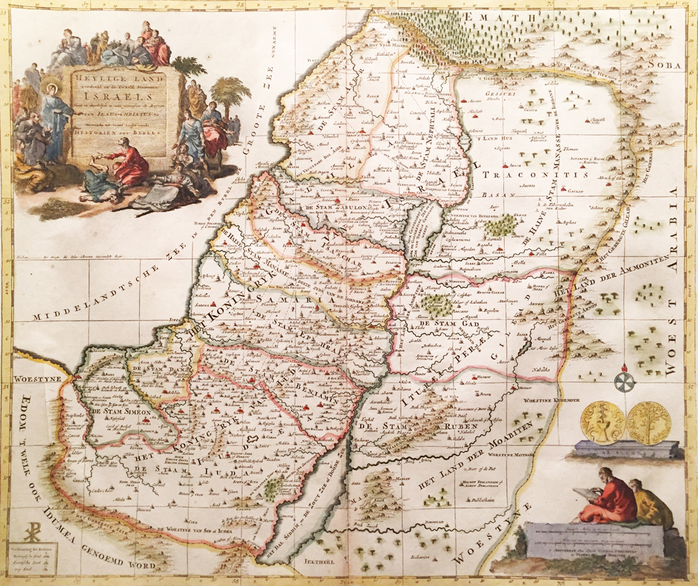 Het Heylige Land verdeeld in de Twaals Stammen Israels