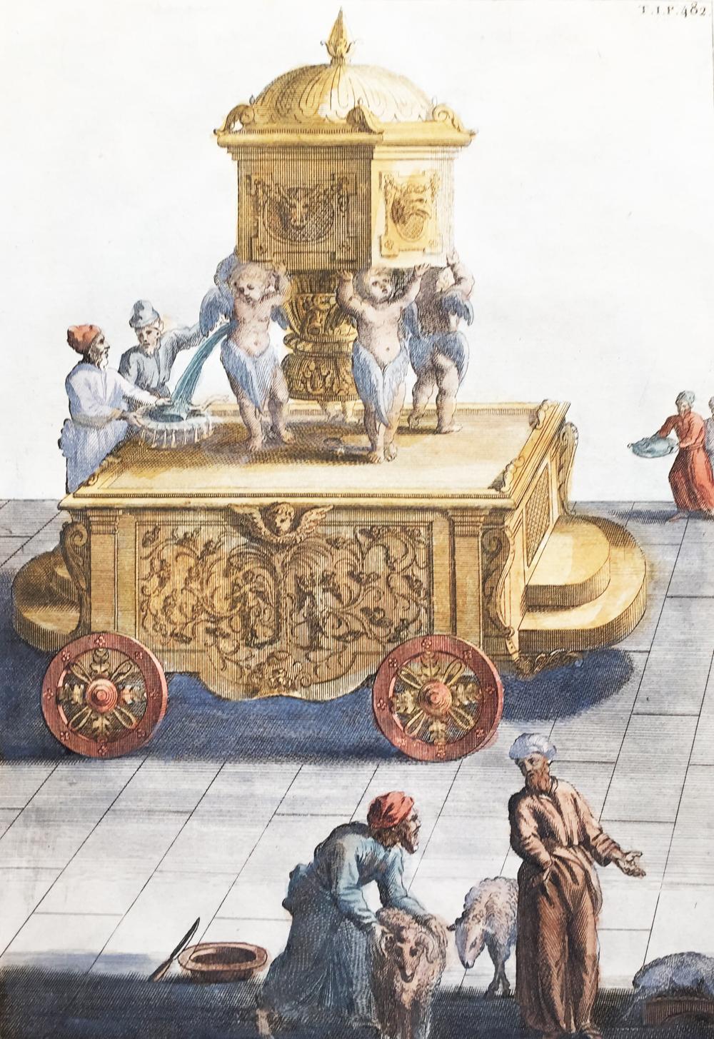 One of the Ten Wheeled Movable Basin – Un des Dix Bassins d'Airain du Temps de Salomon qui Servaient à laver les Victimes, les Vases