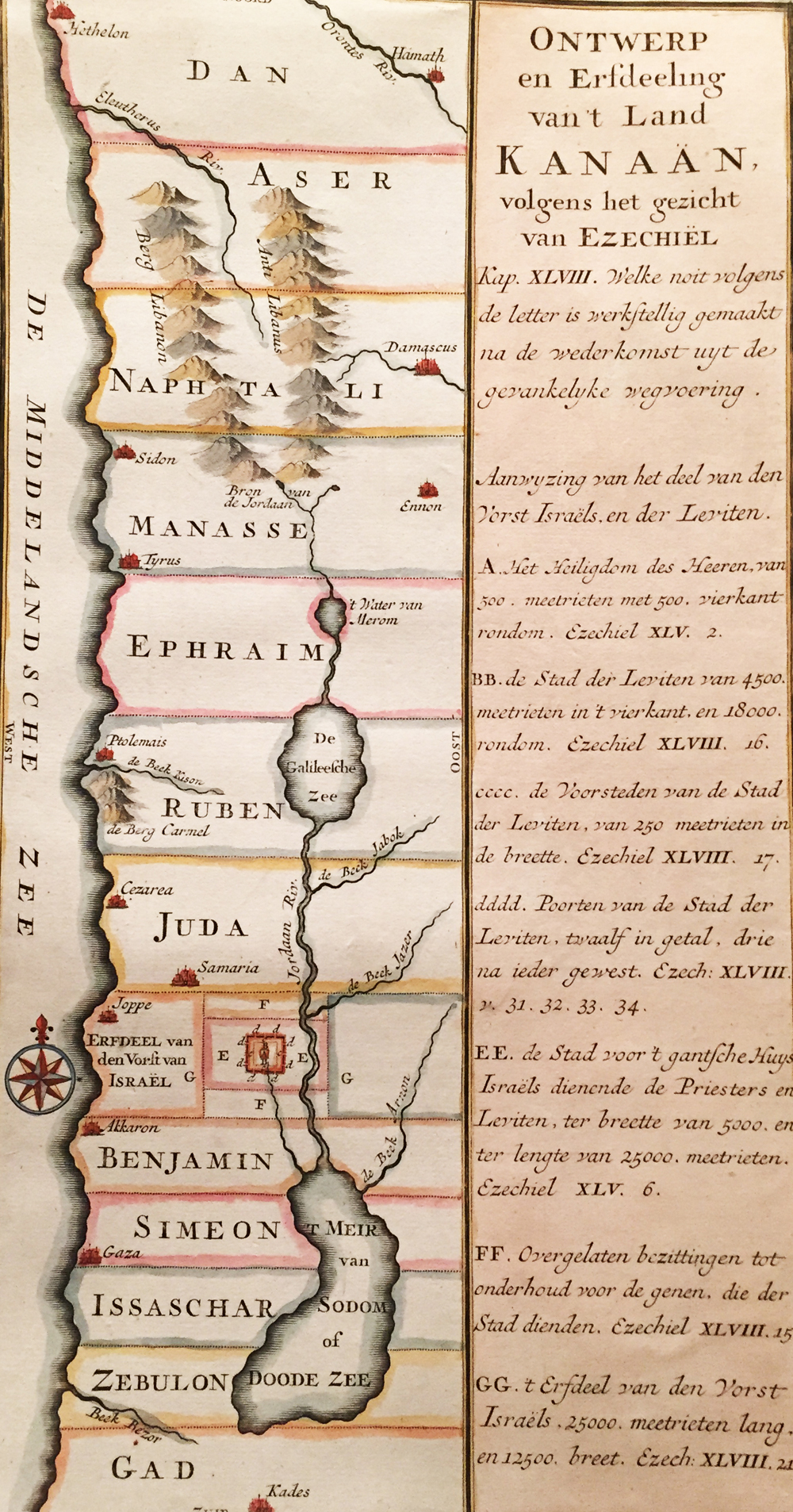 Kanaan – Ontwerp en Erfdeeling van 't Land Kanaan, Volgens het Gezicht van Ezechiel