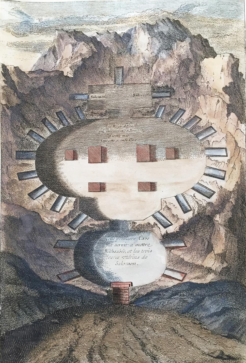 Plan souterrain des tombeaux des rois d'Israël Description: Theophile Blanchard, 1844 Paris