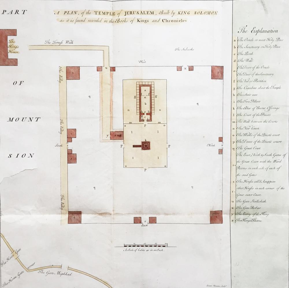 A Plan of the Temple of Jerusalem, Built by King Solomon