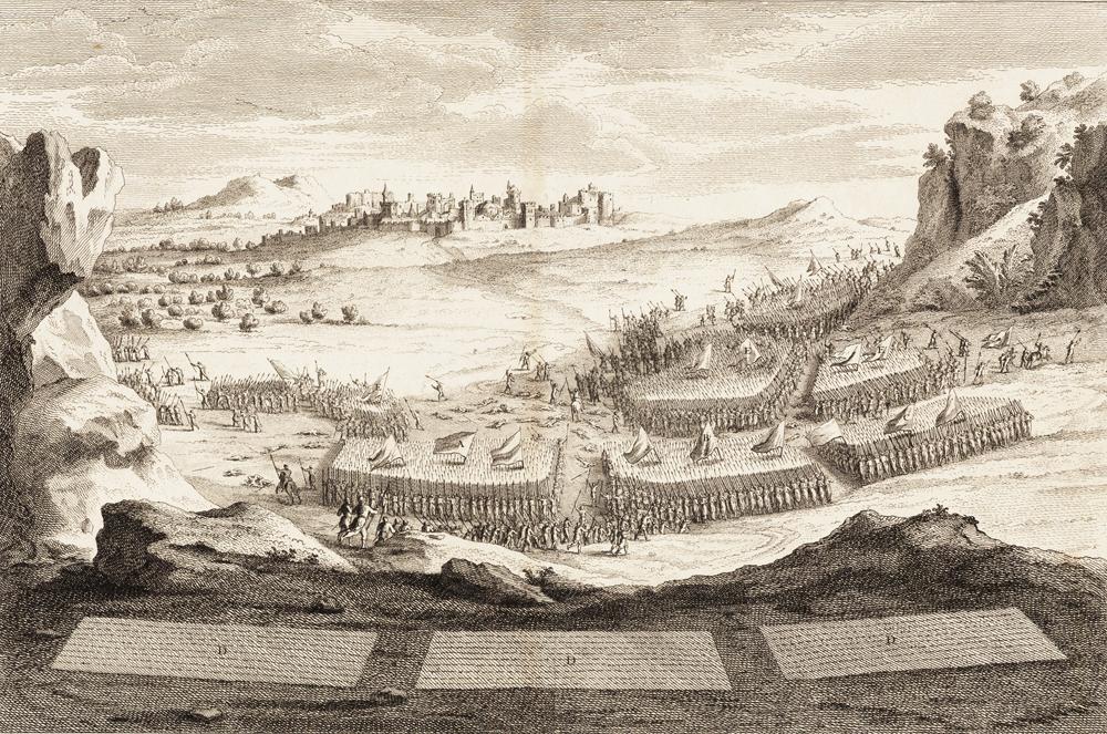 Abimelech combat les Shchemites, et les contraint de Rentrer dans leur ville. Jug. IX. 42. & suiv.