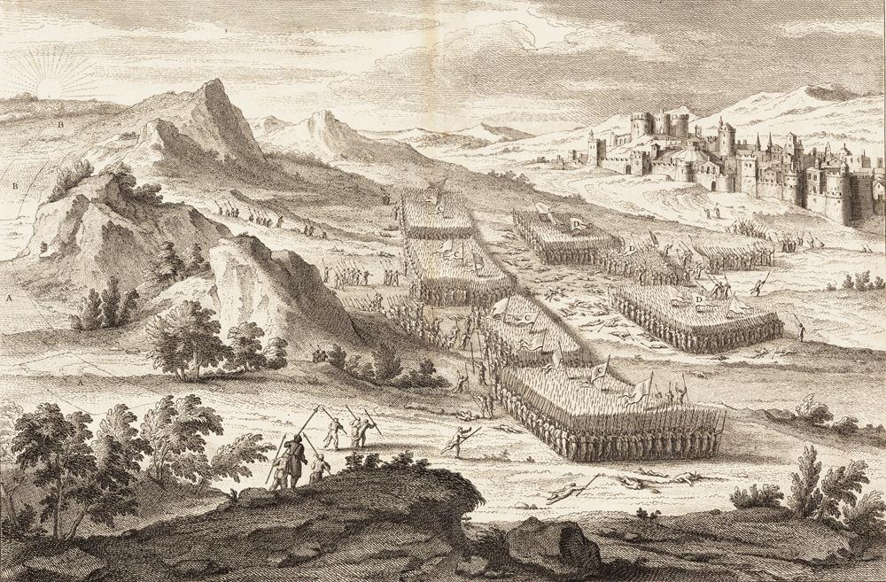Victoire d`Abimelech sur Gaal pres Sichem. Jug. IX. 30. & suiv.