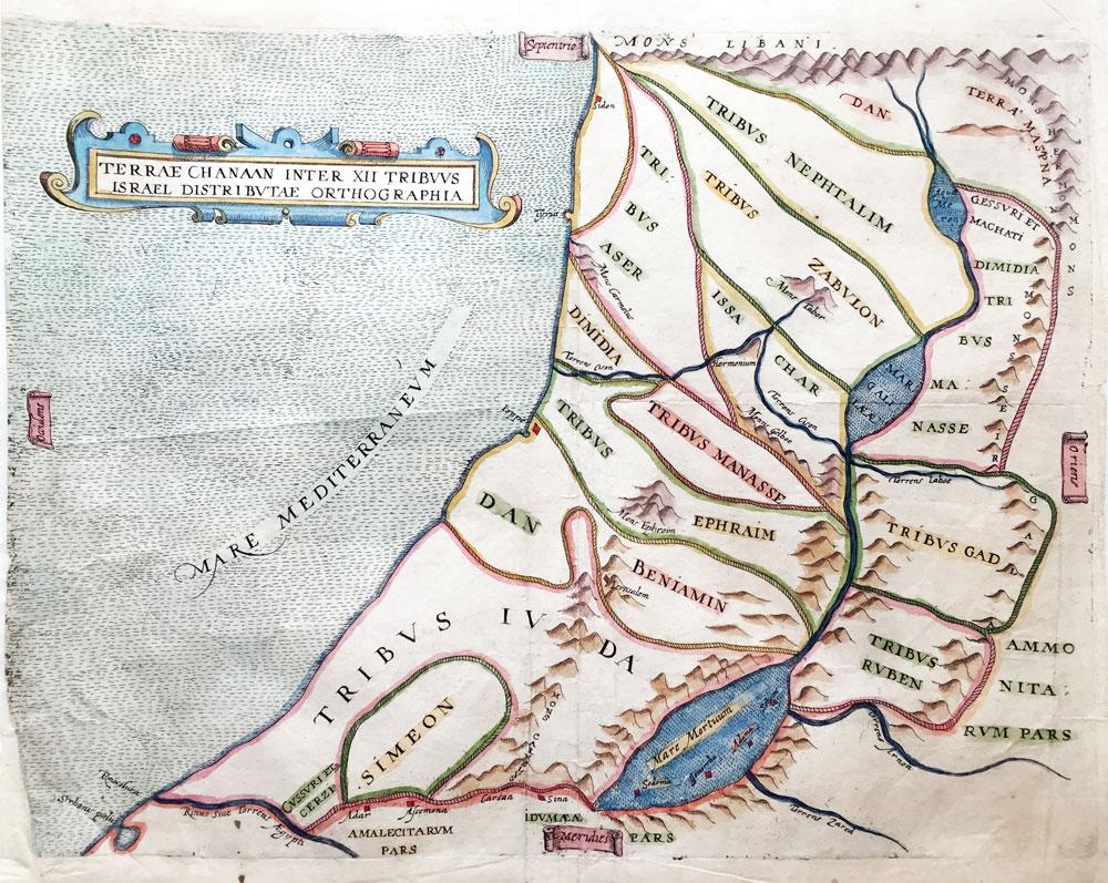Terra Chanaas Inter XII Tribuus Israel Distributae Orthographia