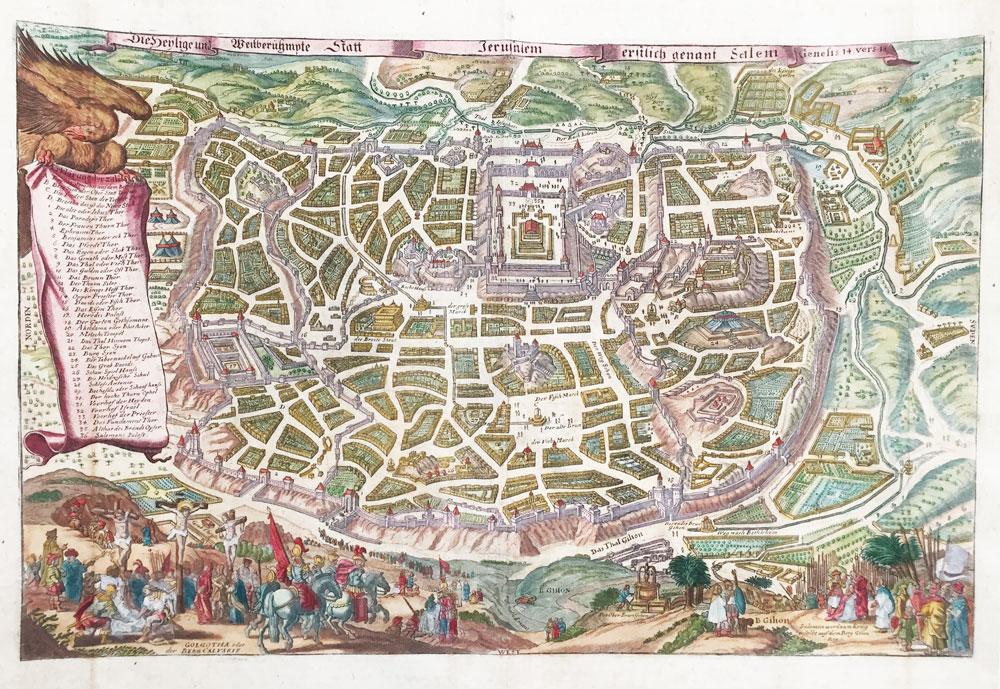 """Jerusalem – """"Die heylige und weitberühmpte Statt Jerusalem erstlich genant Salem"""