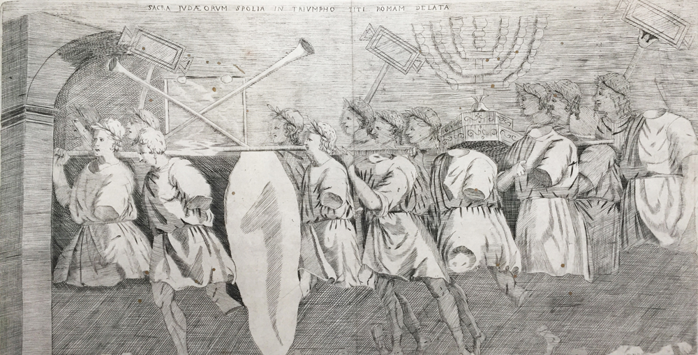 Triumphal Procession of Men Holding on their Shoulders Various Pieces of Tabernacle Furniture, Arch of Titus