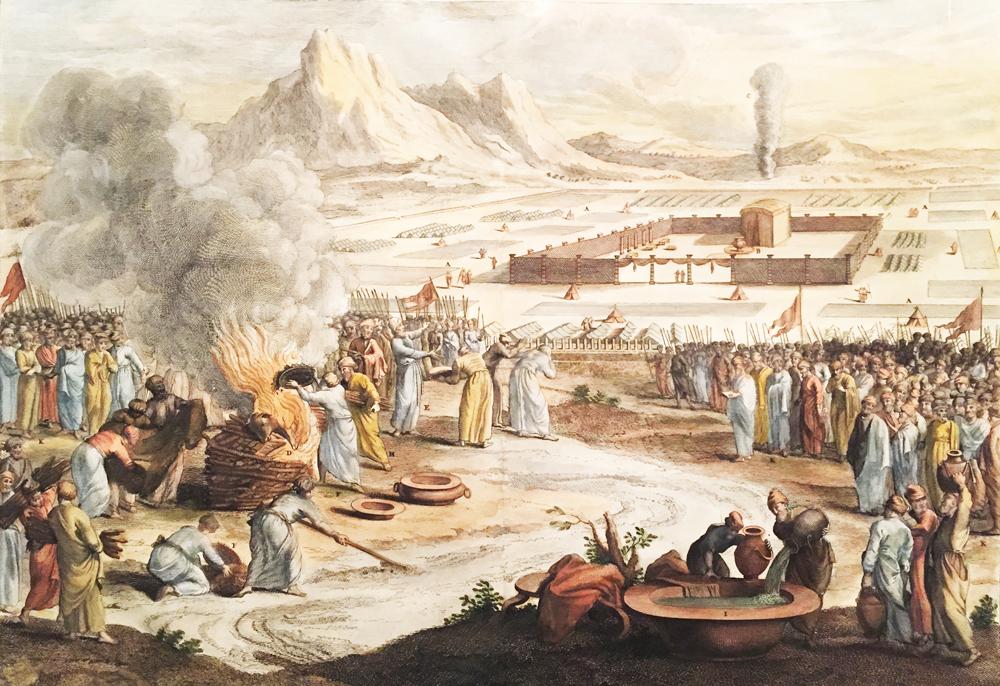 Ceremony Burning Calf Israel Army