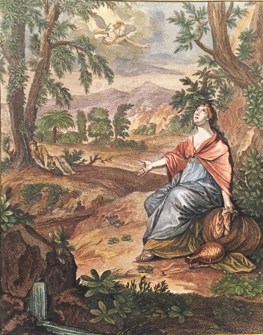 Hagar, Ishmael sees the Angel