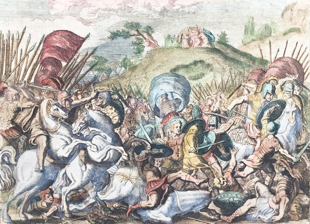 Joshua beats Amalekites