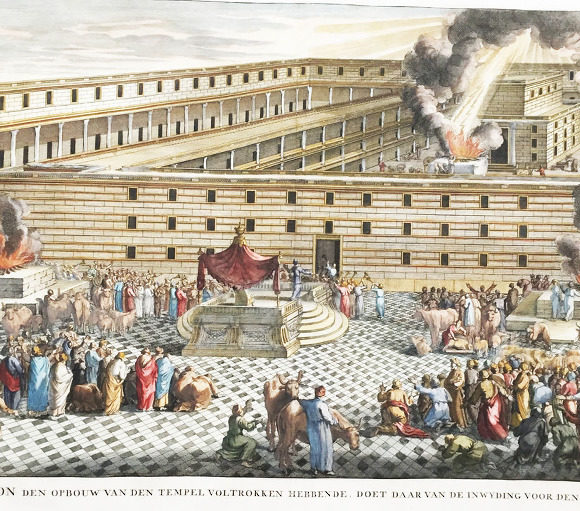 Consecration of Salomon's Temple in Jerusalem