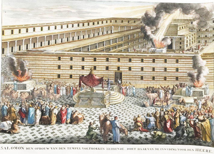 Consecration of Salomon's Temple in Jerusalem