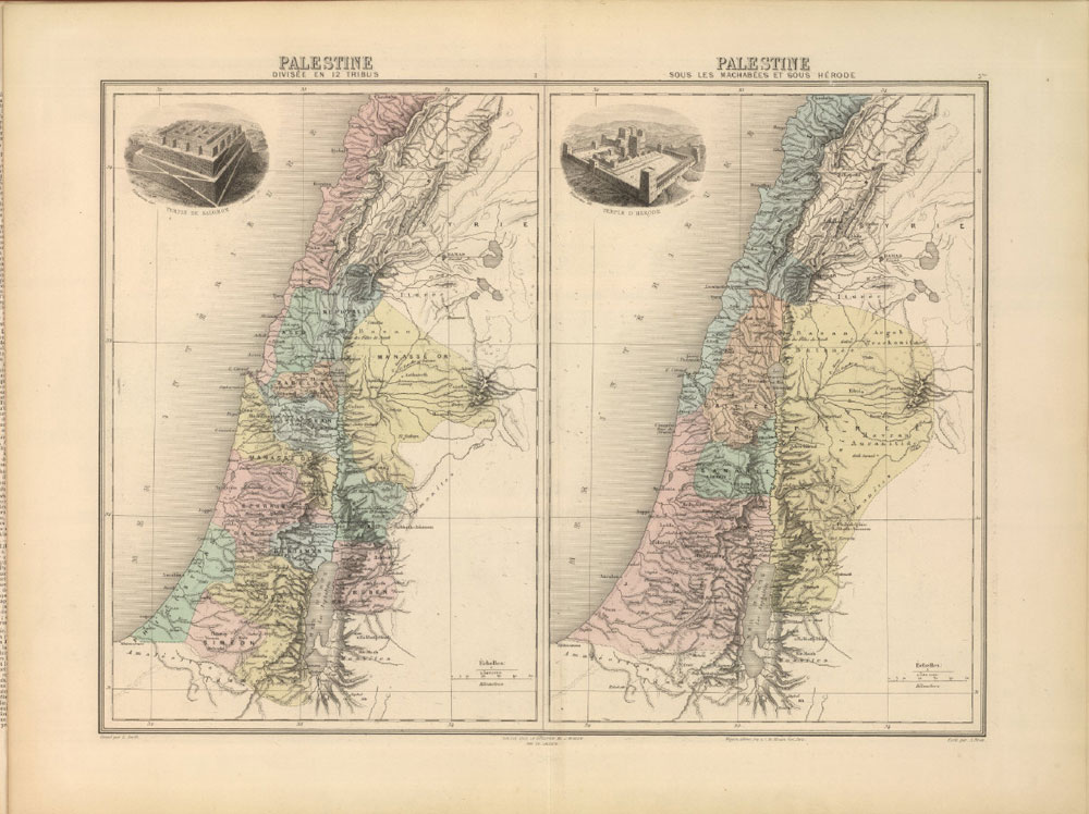 Palestine divisee en 12 tribus – Palestine sous les machabees sous herode