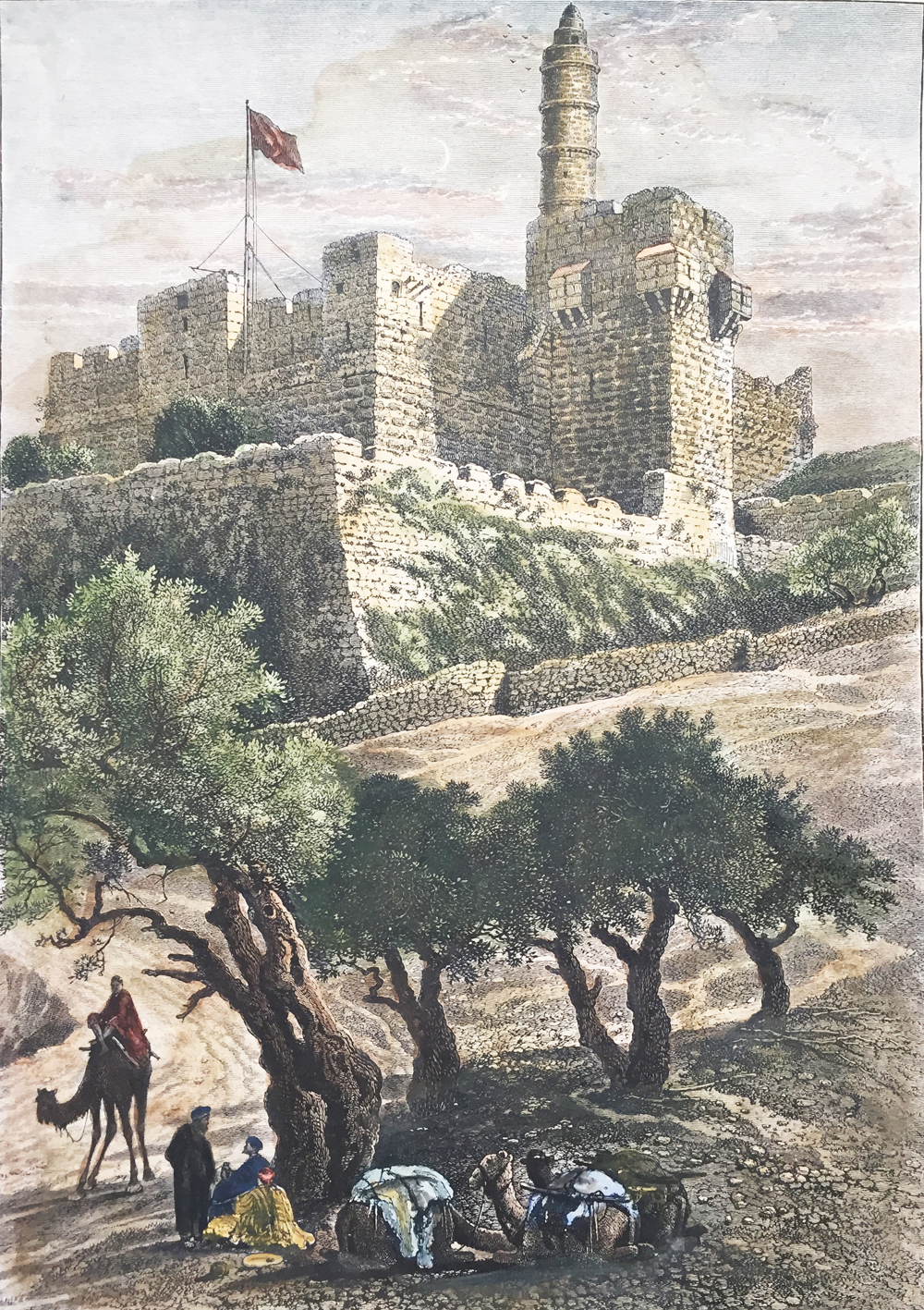 THE CITADEL OF JERUSALEM FROM THE VALLEY OF HINNOM
