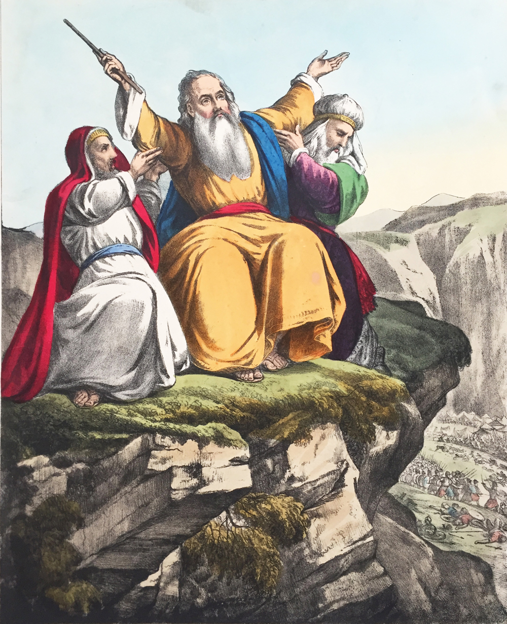 Moses Praying for the success of Israel against the Amalekites